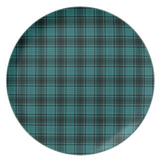HIGHLAND TARTAN in Teal Blue ~ Plate