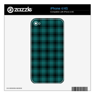 HIGHLAND TARTAN in Teal Blue ~ Decal For The iPhone 4S