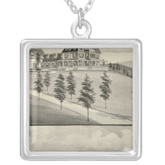 Highland View, Claremont, NH Silver Plated Necklace