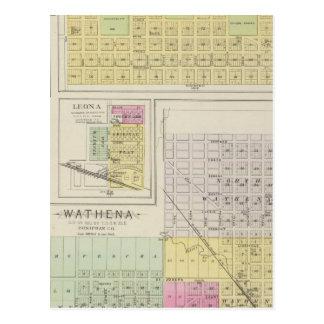 Highland, Wathena, Eagle Springs, Kansas Postcard