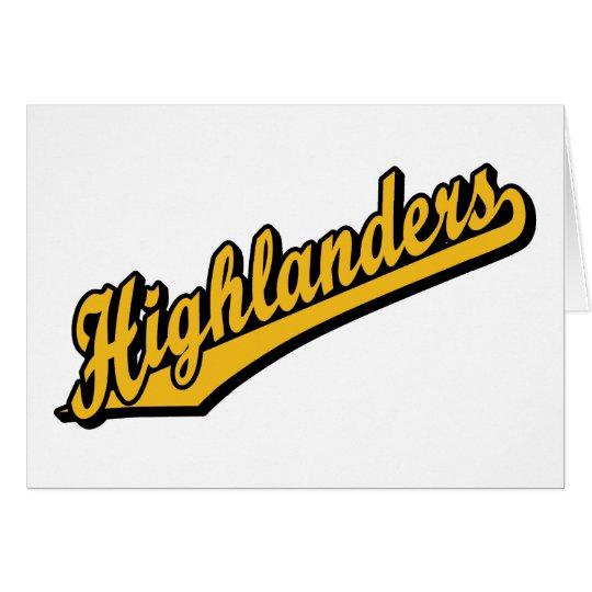 Highlanders in Orange Card