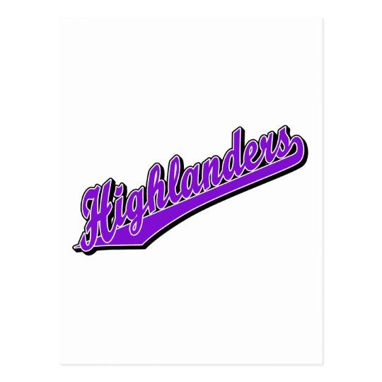 Highlanders in Purple Postcard