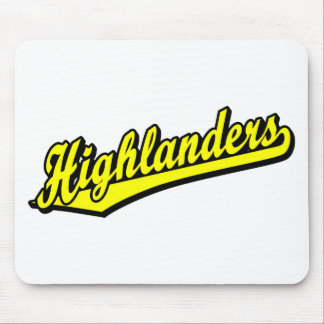 Highlanders script logo in Yellow Mouse Pad