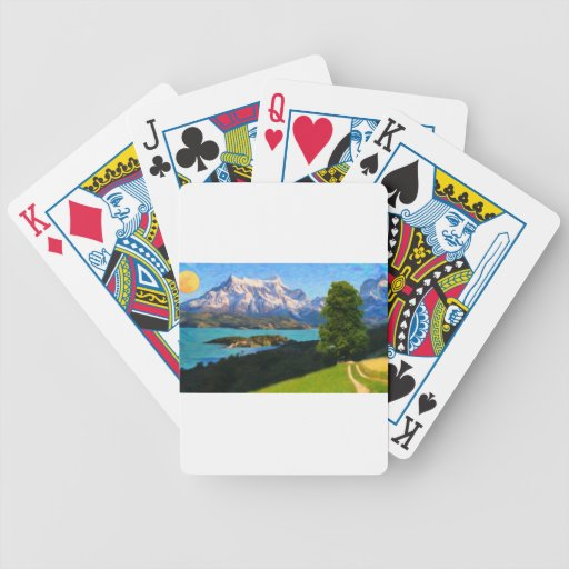 Highlands of Chile - Lago Pehoe in Torres del Pain Bicycle Poker Deck