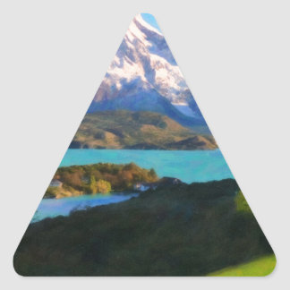 Highlands of Chile - Lago Pehoe in Torres del Pain Triangle Sticker