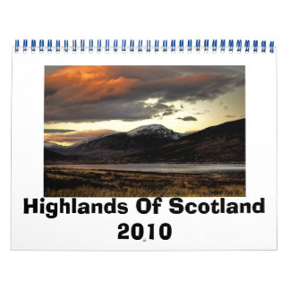Highlands Of Scotland 2010 Calender Wall Calendars