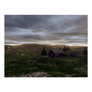 Highlands storm clouds. poster