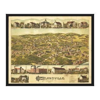 Highlandville Massachusetts (1887) Canvas Print