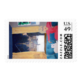 Highlife in Paris Postage Stamps