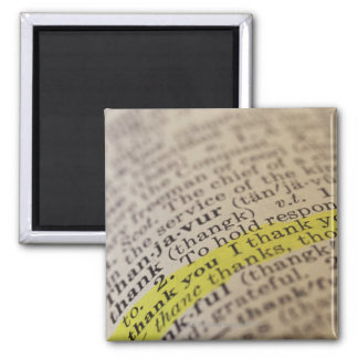 Highlighted dictionary entry 2 inch square magnet