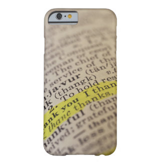 Highlighted dictionary entry barely there iPhone 6 case