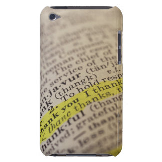 Highlighted dictionary entry iPod touch cases