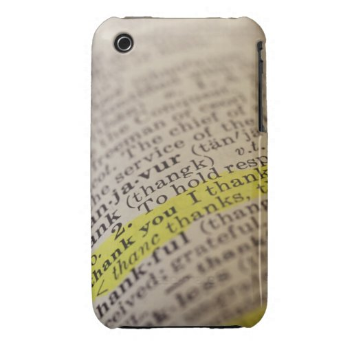 Highlighted dictionary entry iPhone 3 case