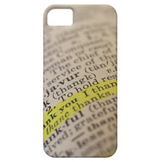 Highlighted dictionary entry iPhone SE/5/5s case
