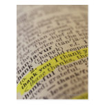 Highlighted dictionary entry postcards