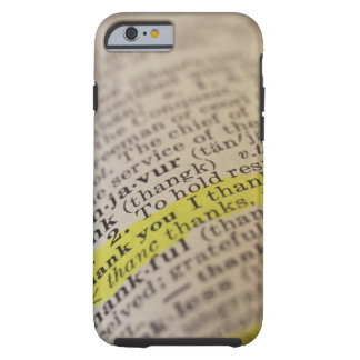 Highlighted dictionary entry tough iPhone 6 case
