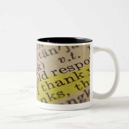 Highlighted dictionary entry Two-Tone coffee mug