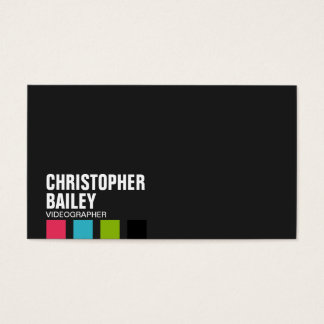 Highlighter Bars on Black - Style 1 Business Card