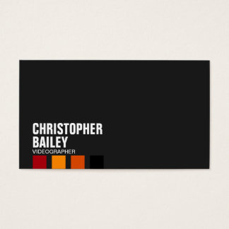 Highlighter Bars on Black - Style 3 Business Card