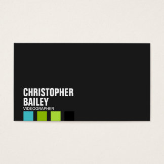 Highlighter Bars on Black - Style 6 Business Card