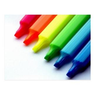 Highlighter Color Spectrum Art Postcard