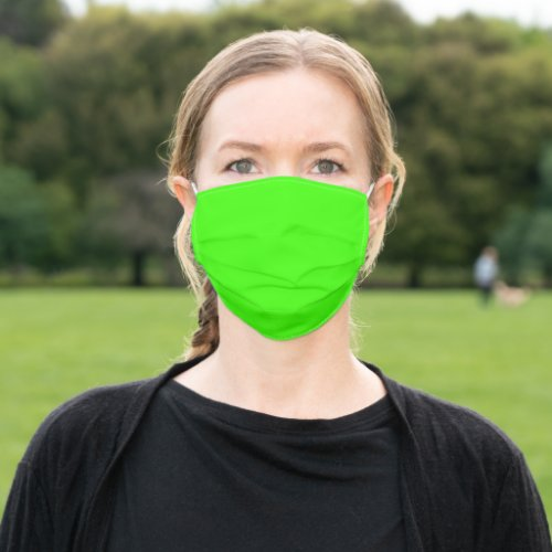 Highlighter Neon Green Solid Color Corona Virus Cloth Face Mask