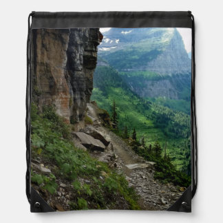 Highline Trail Glacier National Park Montana Drawstring Bag