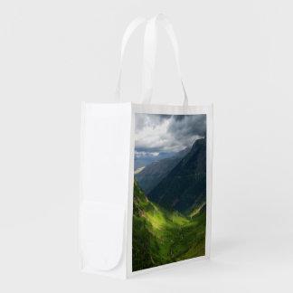 Highline Trail Glacier National Park Montana Reusable Grocery Bags