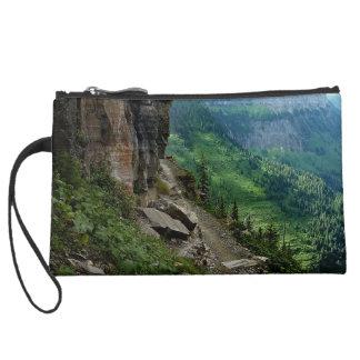 Highline Trail Glacier National Park Montana Suede Wristlet