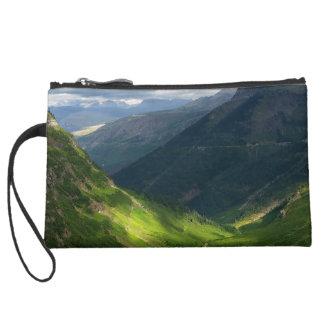Highline Trail Glacier National Park Montana Suede Wristlet Wallet