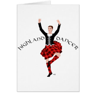 Highlland Dancer in Red Plaid Card
