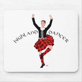 Highlland Dancer in Red Plaid Mousepad