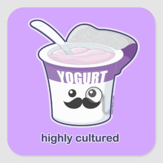 Highly Cultured Square Sticker