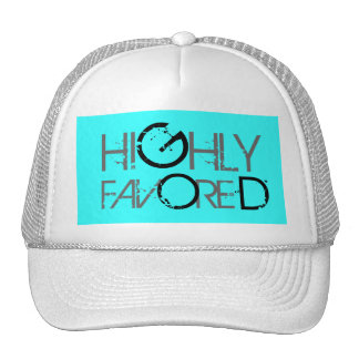 Highly favored (blue) trucker hat