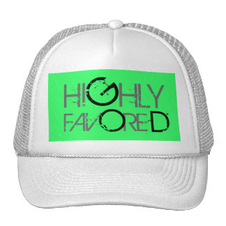 Highly favored (green) trucker hat