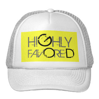 Highly favored (yellow) trucker hat