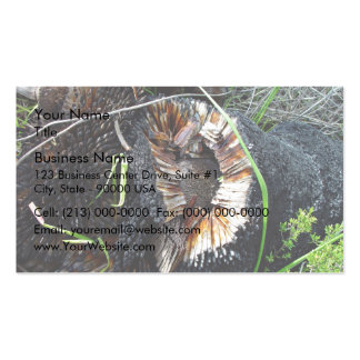 Highly flammable blackboy stump business card template