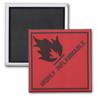 Highly inflammable refrigerator magnets