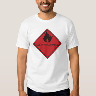 highly inflammable red tees