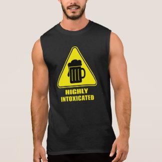 Highly Intoxicated Funny Drinking Sleeveless Shirt