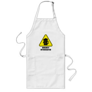 Highly Intoxicated Witty Drinking Long Apron