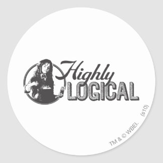 Highly Logical Classic Round Sticker