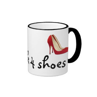 Highly Motivated: Will Work for Shoes (Maybe) Ringer Coffee Mug