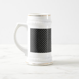 Highly Realistic Carbon Fiber Textured Beer Stein
