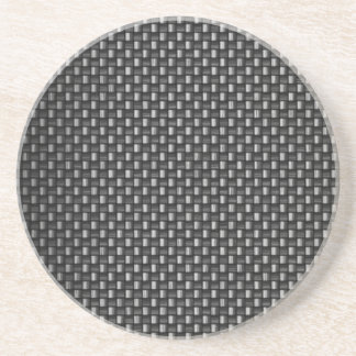 Highly Realistic Carbon Fiber Textured Drink Coaster