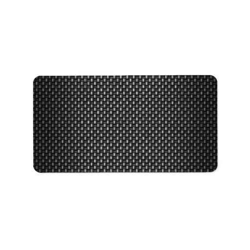 Highly Realistic Carbon Fiber Textured Personalized Address Labels