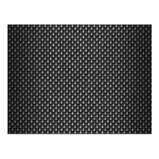 Highly Realistic Carbon Fiber Textured Postcard
