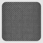 Highly Realistic Carbon Fiber Textured Square Sticker