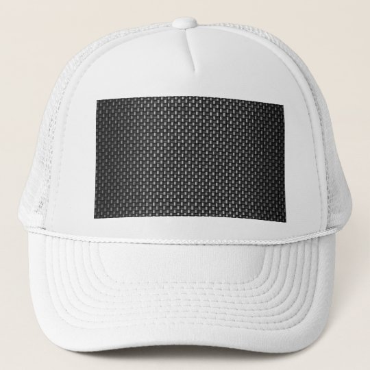 Highly Realistic Carbon Fiber Textured Trucker Hat