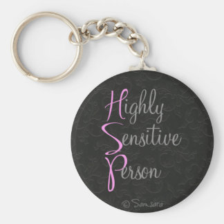 Highly Sensitive Person Keychain